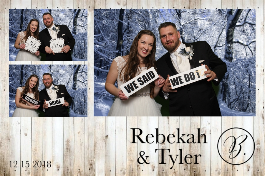 Green screen photo booth at Rebekah and Tyler's wedding at the Fez.
