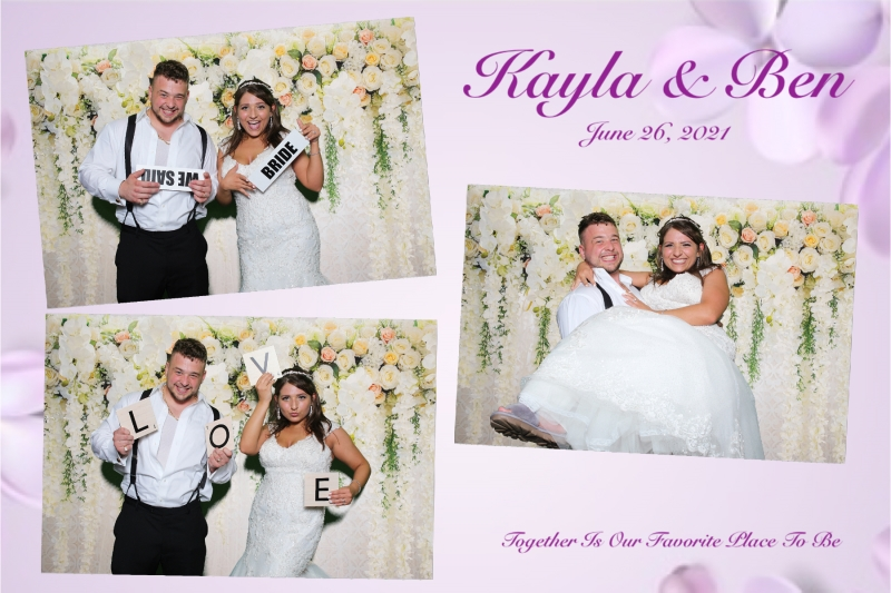 Kayla and Ben married at last.